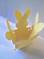 10 x Basket Bunny Rabbit Favour/ Gift Box Assorted Pastel Coloured Card